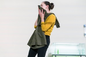 Charlie Murphy r in Arlington. Landmark Productions and Galway International Arts Festival present Arlington a new play by Enda Walsh. World premiere 11 July in a specially-constructed theatre space at Leisureland, Salthill, Galway. Photo by Patrick Redmond